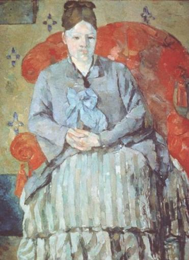 "Alex Danchev's insights into Cézanne's life include the assertion that the artist's wife (above in ""Madame Cézanne in a Red Armchair"") has been unfairly maligned by other biographers."